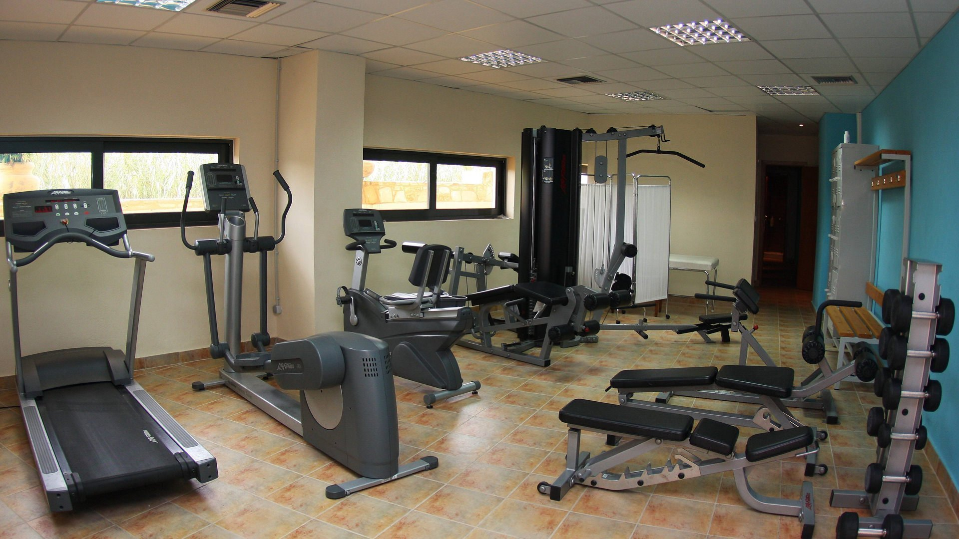 Gym steam room fitness facilities kiani beach resort